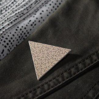 Broche maxi triangle - Motif Vermicelle, Rose