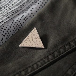 Broche mini triangle - Motif Vermicelle, Rose