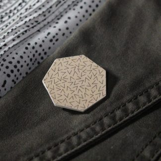 Broche maxi hexa - Motif Vermicelle, Rose