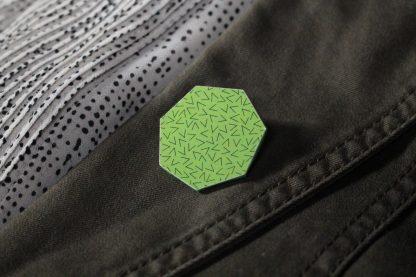 Broche maxi hexa - Motif Vermicelle, Vert