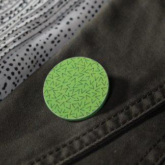 Broche maxi ronde - Motif Vermicelle, Vert