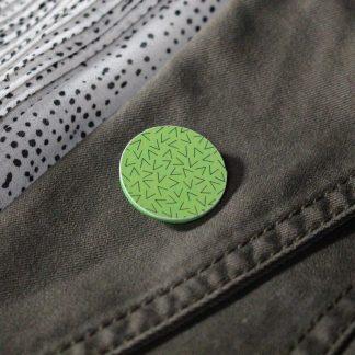 Broche mini ronde - Motif Vermicelle, Vert