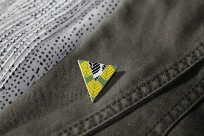 Broche triangulaire - Motif Sylvia, duo couleurs