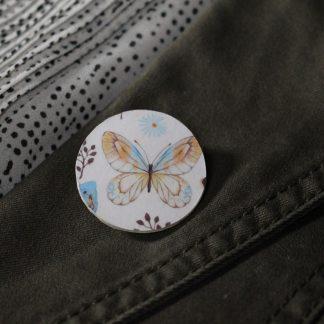Broche en papier motif papillon vintage
