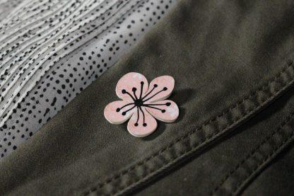 Broche en papier - Petite fleur