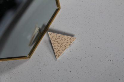 Broche mini triangle - Motif Vermicelle, Rose