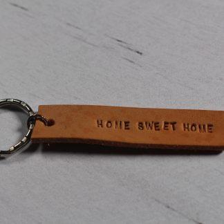Porte clé en cuir- Home Sweet Home