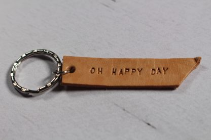 Porte clé en cuir- Oh Happy Day