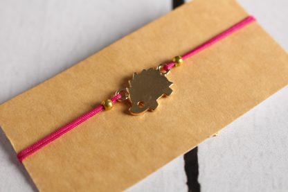 Bracelet hérisson fushia