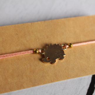 Bracelet hérisson rose pâle