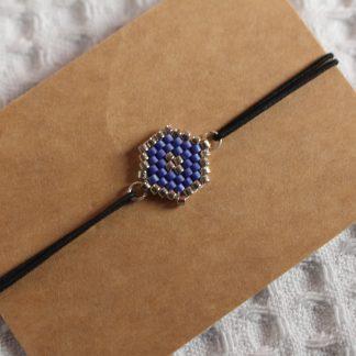 Bracelet miyuki - Bleu saphir