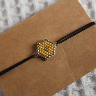 Bracelet miyuki - Moutarde