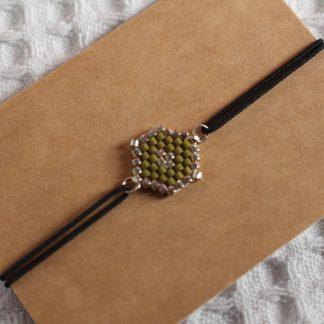 Bracelet miyuki kaki