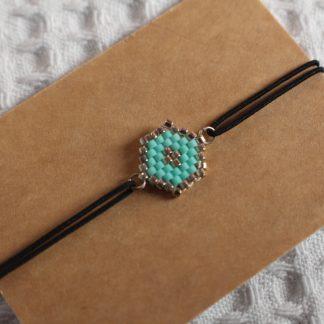 Bracelet miyuki bleu turquoise