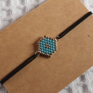 Bracelet miyuki bleu ciel