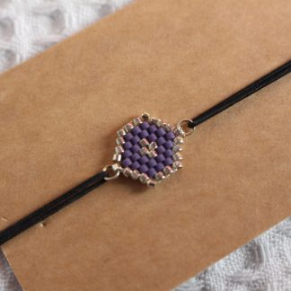 Bracelet miyuki - Violet améthyste