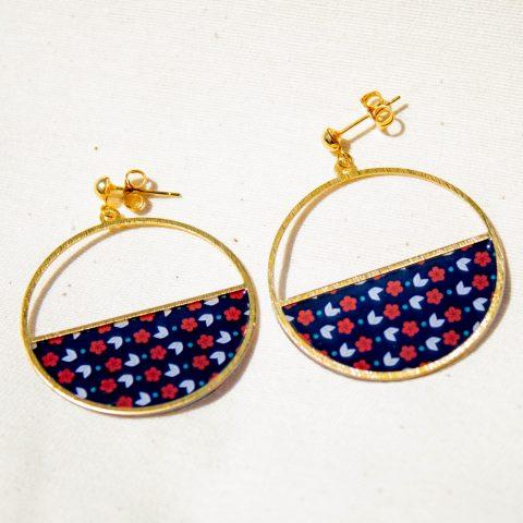 Boucles d'oreilles - Luna - Motif Churippu - La Boutique Sozo