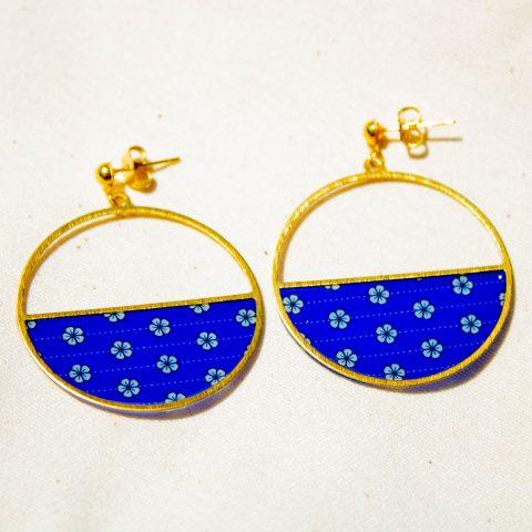 Boucles d'oreilles - Luna - motif Saku - La Boutique Sozo