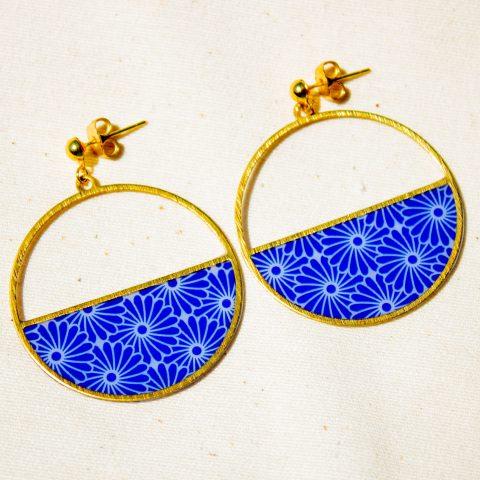 Boucles d'oreilles - Luna - motif Taiyo - La Boutique Sozo